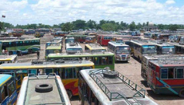 সিরাজগঞ্জ থেকে রাজশাহী-নাটোর রুটে বাস চলাচল বন্ধ