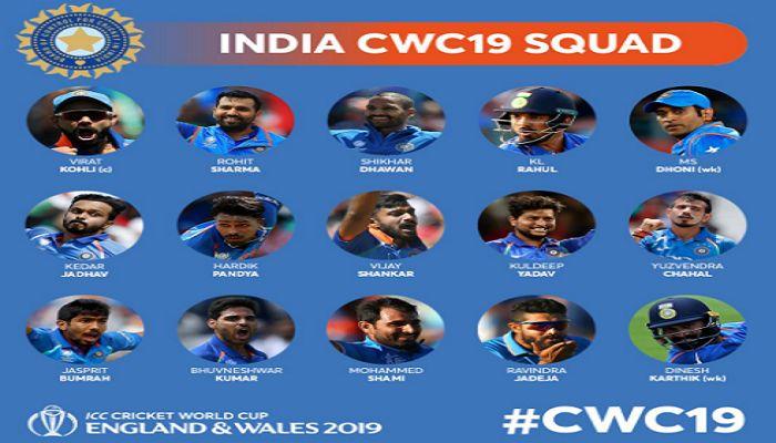 ভারতের বিশ্বকাপ দল ঘোষণা