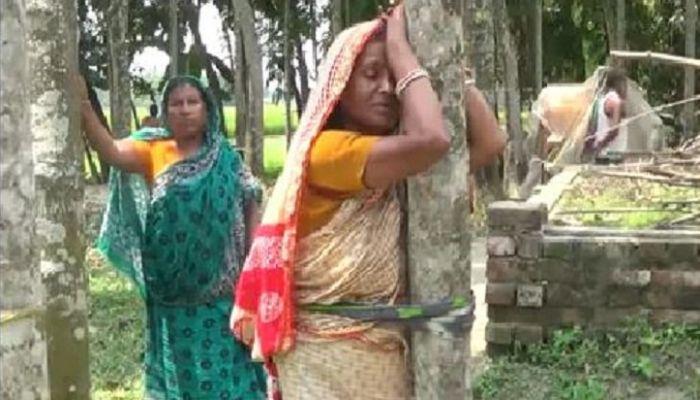 জামালপুরে হিন্দু পরিবারের জমি দখল, নারীকে মারধর
