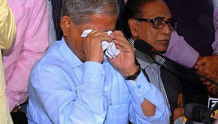 মাহফুজ উল্লাহকে স্মরণ করে কাঁদলেন মির্জা ফখরুল