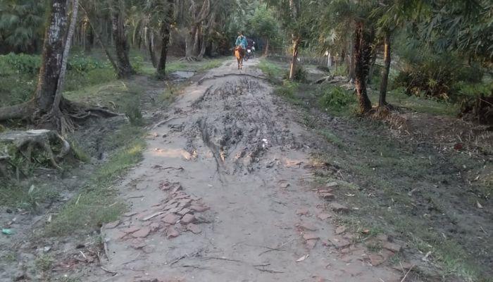 তালতলীতে এক কিলোমিটার সড়কের জন্য চরম দুর্ভোগ