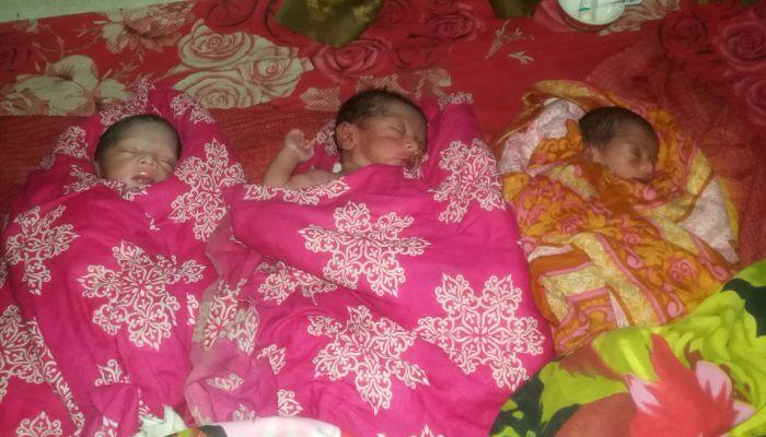 জয়পুরহাটে একসাথে ৩ সন্তানের জন্ম দিল প্রসূতি