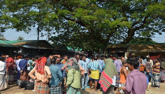 ঝিনাইদহে জমে উঠেছে শ্রমিক কেনা-বেচার হাট