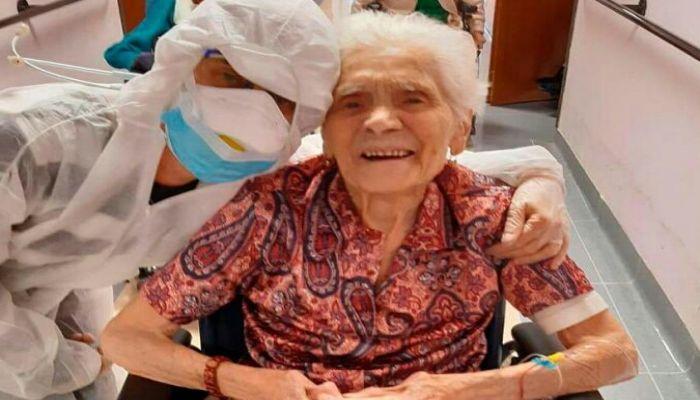 করোনাকে হার মানালেন ১০৩ বছরের নারী