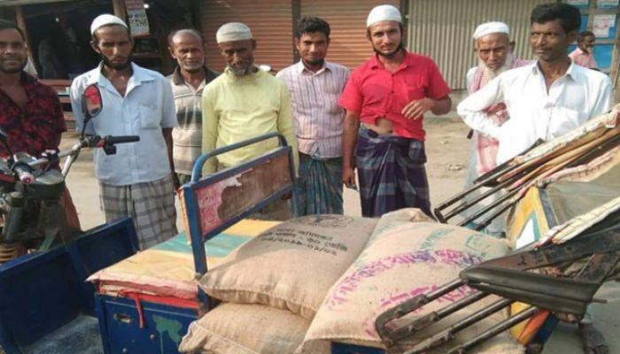 নোয়াখালীতে খাদ্যবান্ধব কর্মসূচির চাল জব্দ, ডিলার পলাতক