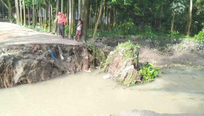টাঙ্গাইলে বেড়েই চলেছে যমুনার পানি, তীব্র ভাঙন